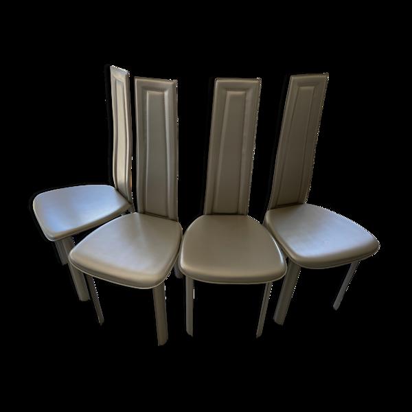 Selency 4 chaises moderne cuir Vegas