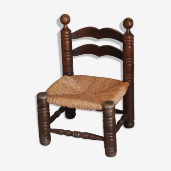 Chaise paille basse