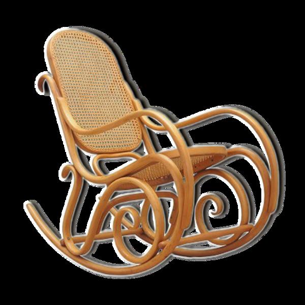 Fauteuil à bascule en hêtre, design danois, années 1970, fabrication: Danemark