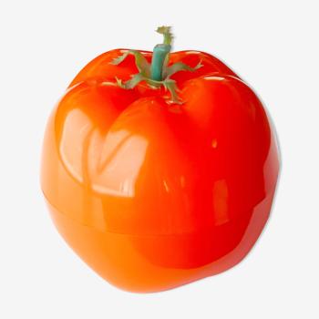 Seau à glaçons tomate orange années 70