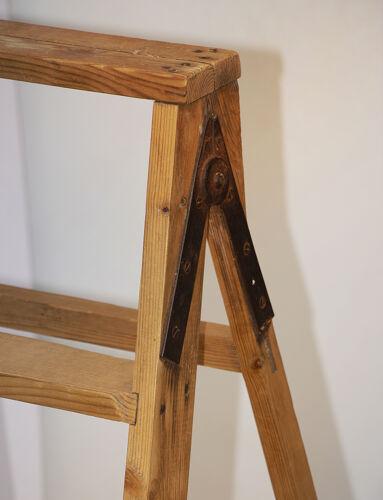 Escabeau vintage en bois