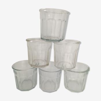 Lot de 6 pots à confiture anciens