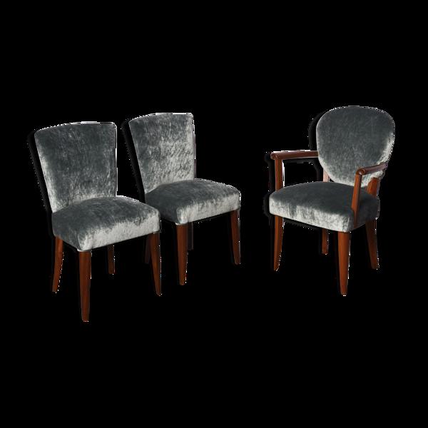Selency Set de 3 chaises art déco 1930s