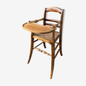 Vintage baby high chair 1900