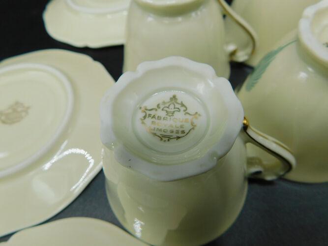 Tasses à café - fabrique Royale de Limoges D'Artois