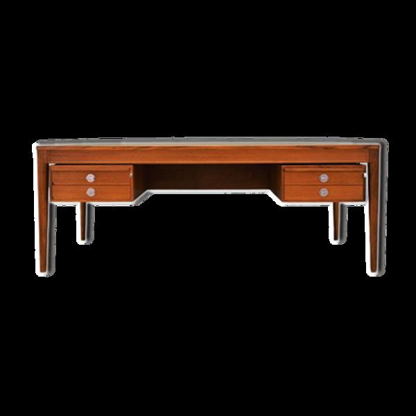 Bureau en teck, design danois, années 60, designer : Finn Juhl, producteur : France &Son