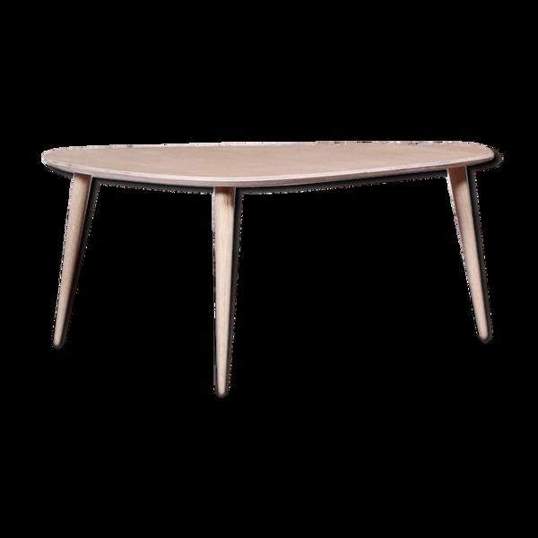 Table basse tripode placage chêne