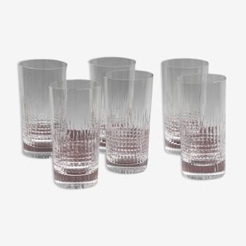 Set 6 chopes en cristal Baccarat modèle Nancy