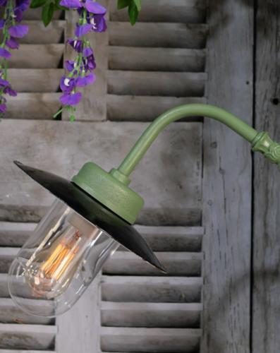 Gooseneck wall lamp