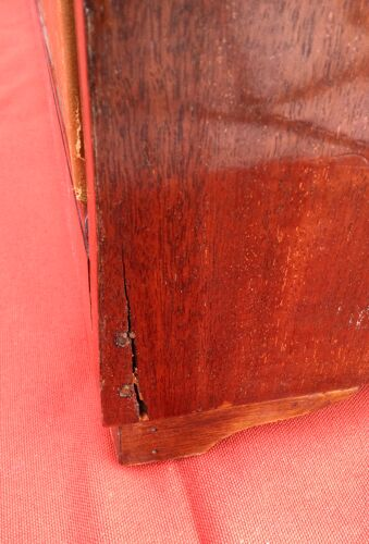 Cartonnier formant écritoire en acajou