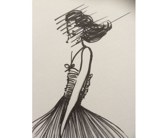 Illustration de mode Nina Ricci, collection printemps/été 1998