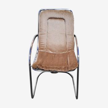 Chaise italienne Cidue années 70
