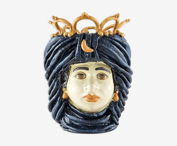 Vase couronne bleu marine
