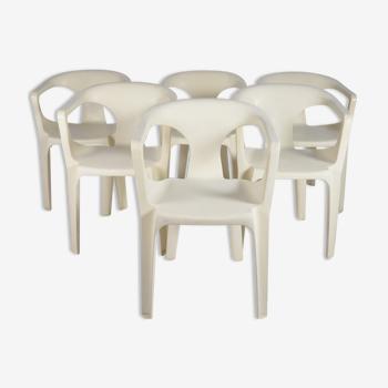 Set de 6 fauteuils Stamp 3000