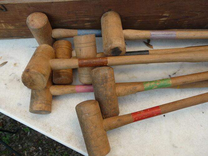 Wooden garden croquet set in its DF brand box