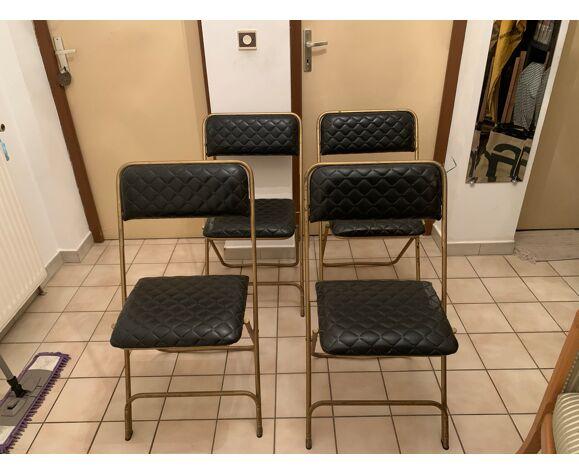 4 chaises Lafuma  1960