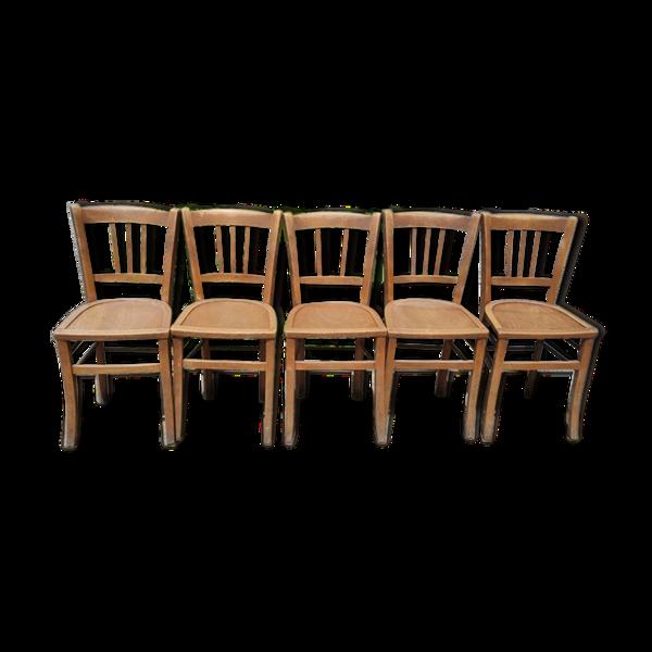 Lot de 5 chaises de bistrot Luterma