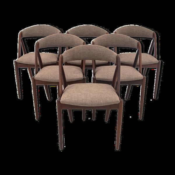 Selency Six chaises à manger modèle 31 Kai Kristiansen