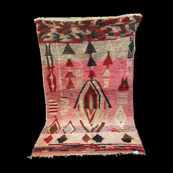 Tapis laine berbère abstrait multicolore 165x253cm