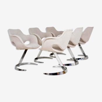 Set de 6 chaises de Boris Tabacoff