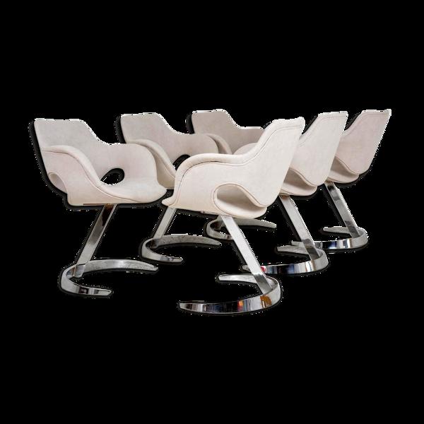 Selency Set de 6 chaises de Boris Tabacoff