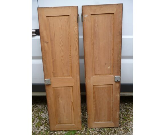 Pair of doors with old green patina