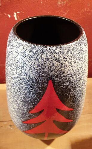 Vase vintage en céramique Elchinger années 1960
