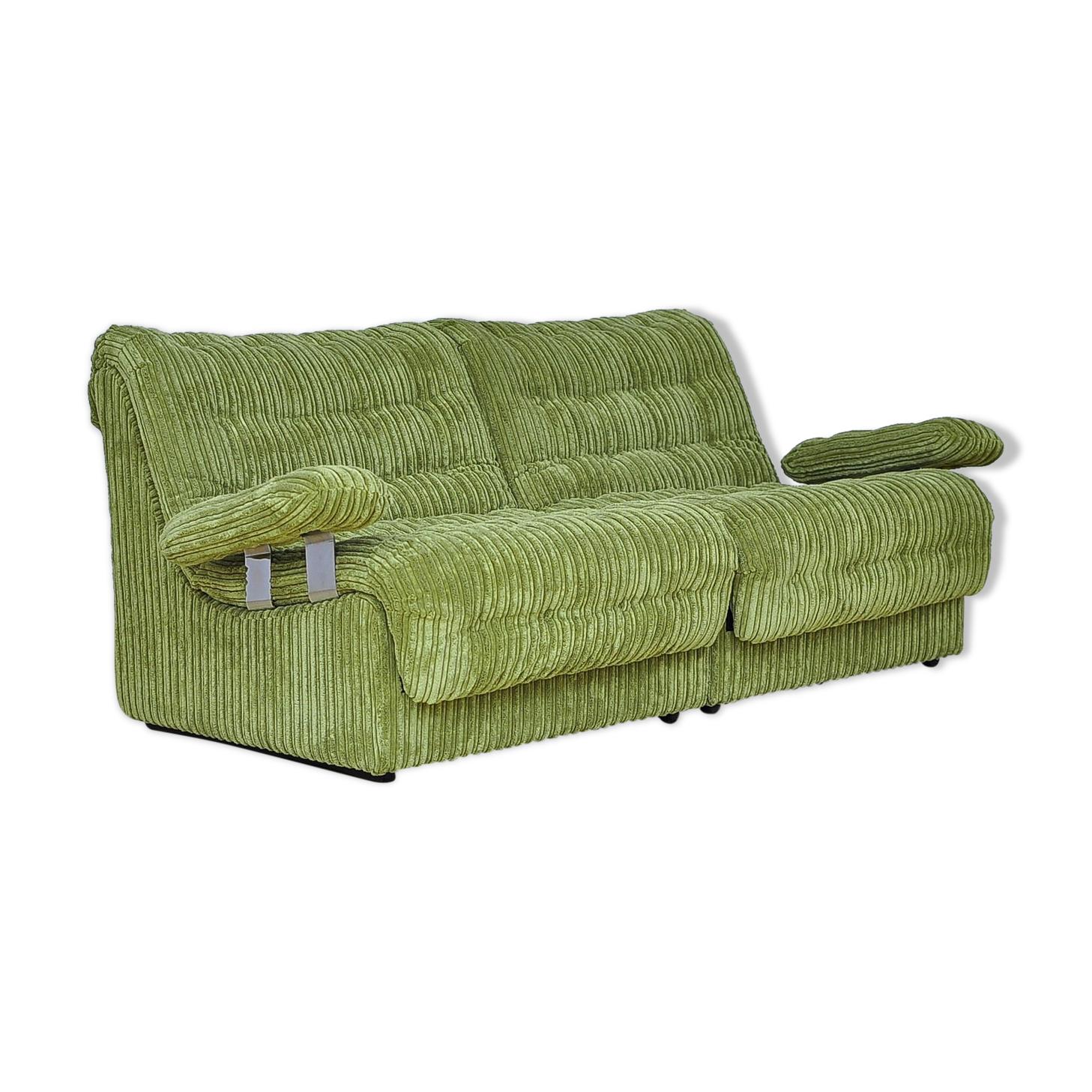 Canapé modulaire biplace du milieu du siècle des années 1970