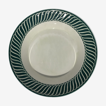 Plat creux Digoin vert foncé modèle Jacquot