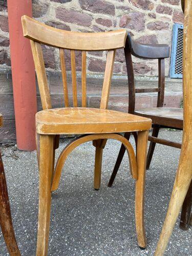 Lot de 6 chaises bistrot dépareillé bois courbé
