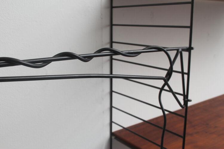 Lampe pivotante des années 1960 pour unité murale à cordes