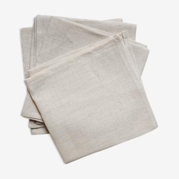 Lot de 4 serviettes beiges unies