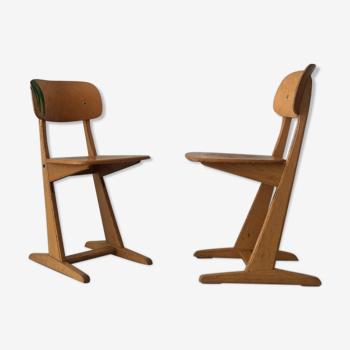 Ensemble de 2 chaises Casala taille adulte, années 1960