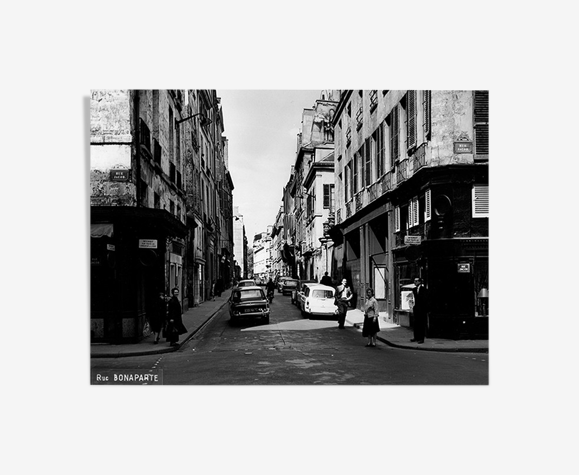 Photographie vintage rue Bonaparte Paris 1965