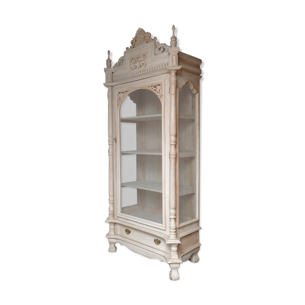 Bibliothèque vitrine en bois