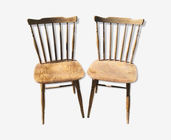 Paire de chaises de bistrot Thonet
