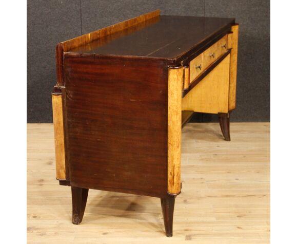 Italian Wooden Writing Desk In Art Deco, Art Deco Style Writing Desk