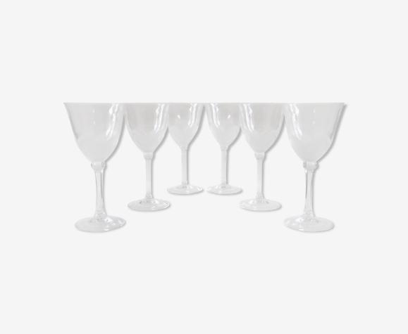 6 verres à eau en cristal dans leurs coffret – JG Durand, collection florence «satine» 24,5 cl