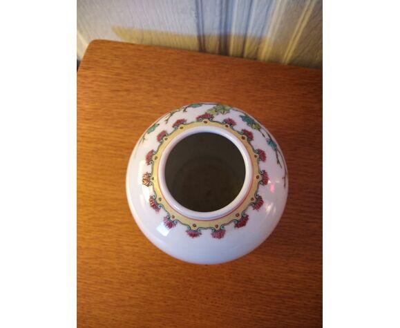 Vase boule émaillé chinois