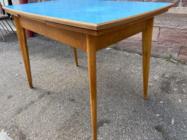 Table scandinave mid century bois et Formica 1960
