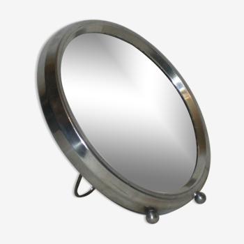 Miroir rond grossissant des années 30