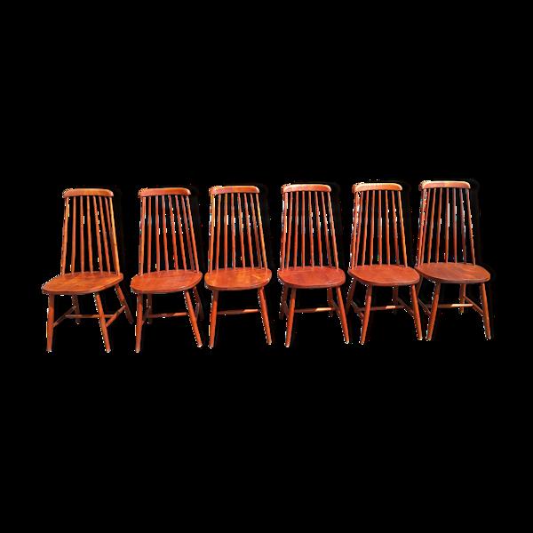 Set de chaises à barreaux