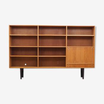 Bibliothèque cendré, design danois, années 1970, Danemark
