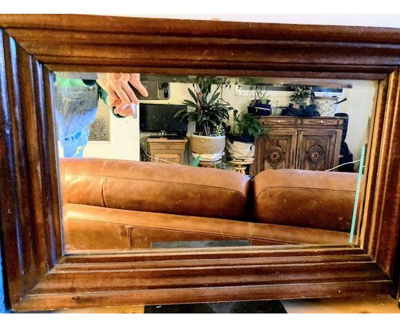 Miroir rectangulaire en bois de 58 x40 cm