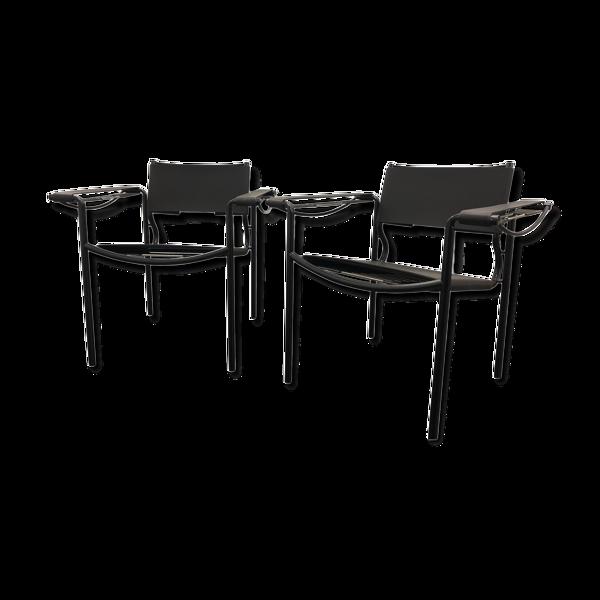 Selency Paire de fauteuils 109 par Belotti pour Alias en 1980
