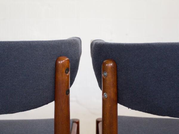 4 Danish teak chairs