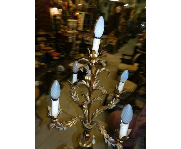 Lampadaire nubien en bois sculpté