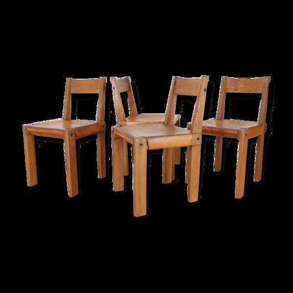 Set de 4 chaises S24 de Pierre Chapo