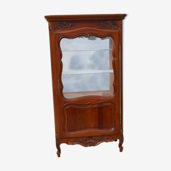 Argentier, vitrine style louis xv, en merisier provençal