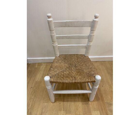 Chaise d'enfant bois blanche